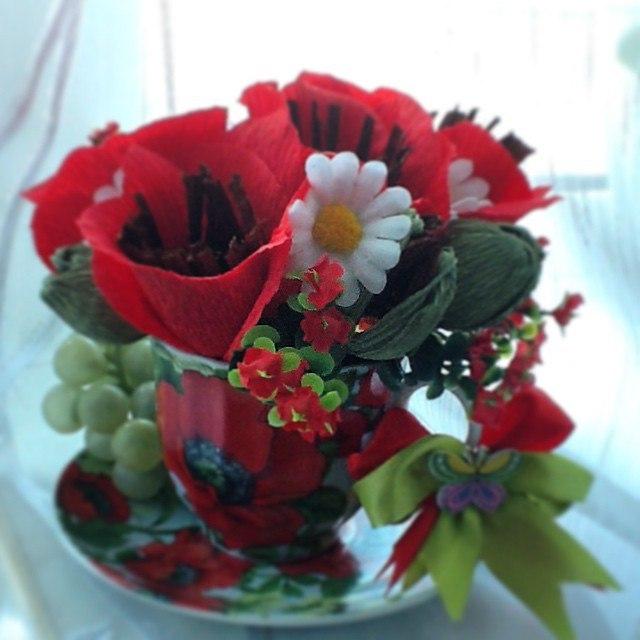 Красивые букеты, букет из маков флористический центр новосибирск